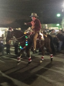 No Texas parade is complete without a cowboy on a horse.