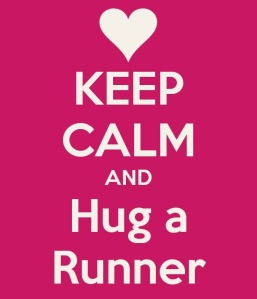 "I made no attempt to hide the fact that I LOVE ""Hug a Runner"" Day!!"