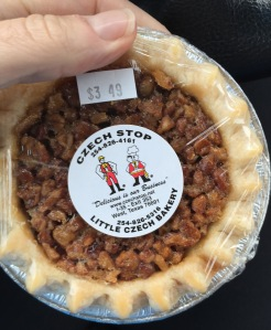 I brought Jane a pecan (puh-cahn NOT pee-can) pie.