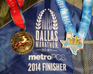 Last year's medal, this year's BEAUTIFUL medal and the finisher bag!