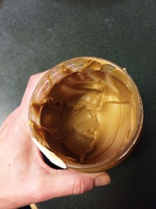 My 2 lb jar of PB, half way gone in just 5 days!