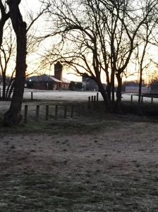 The old train depot was a beautiful sight on frosty Saturday morning!