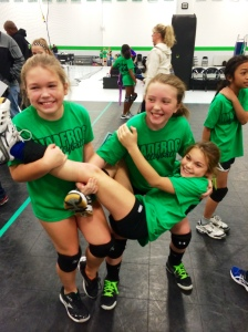 Blair is the one being held.  These girls were SO excited when they learned they were picked for 10 National!