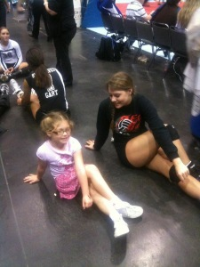 Alli & Valley.  Alli LOVED Valley, one of Taylor's teammates from club.