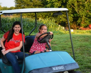 Alli with one of her Georgia cousins last summer.  Note to self: increase life insurance policy when Alli starts driving!