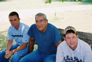 Justin, Granddad, Garrett