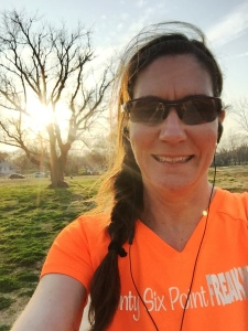"Yes, I wore my ""twenty six point FREAKING two"" shirt to run/walk 3.1 miles."