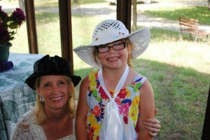 At Taylor's graduation tea party with her godmother, Mary