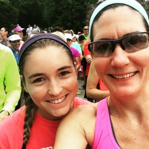 Start line selfie with my favorite oldest daughter :)