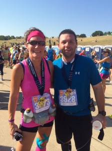 I ran most of Plano Balloon HM last year with Taylor, one of Taylor's former club coaches. I *said* it was a training run, but nearly killed myself trying to PR when he told me to run ahead at mile 11!