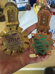 My 2016 and 2014 Spur medals :)