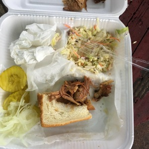 Best cole slaw I've ever had! And the pulled pork was good too :)